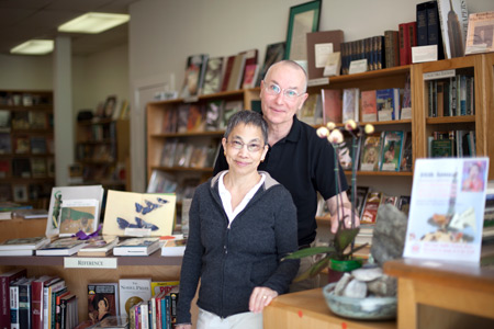 Clare and Gregory Wood are the owners of Forest Books in Japantown.