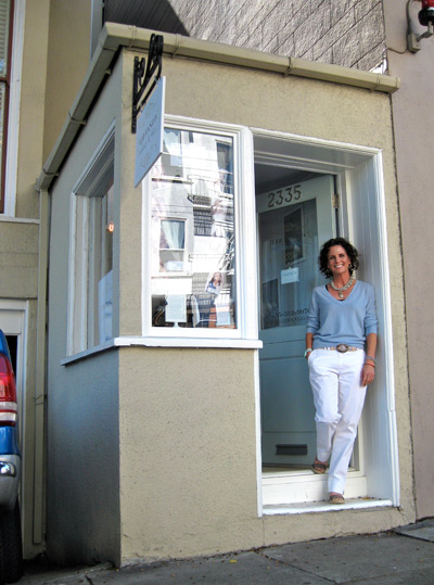 Liz Fanlo's beauty boutique now occupies the tiniest storefront on Fillmore.