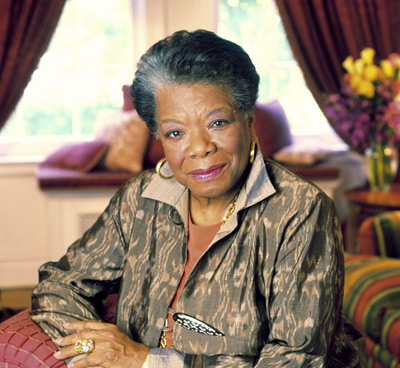 Photograph of Maya Angelou by Dwight Carter