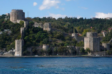 Rumeli fortress, on the shoreline hill at Bebek, was built in 1452.