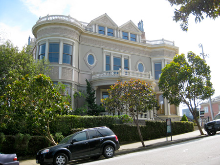 The historic Ellinwood mansion at 2799 Pacific Avenue.