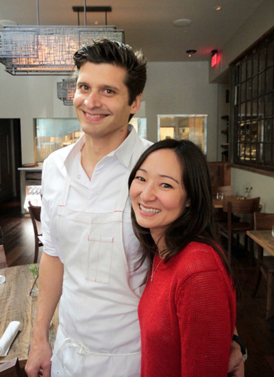 Nicolas Delaroque, chef and owner, with his wife Andrea, of Nico.