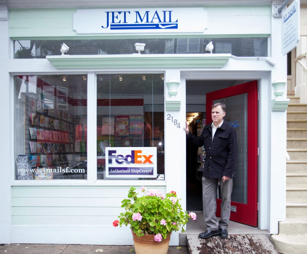 Photograph of Jet Mail co-owner Kevin Wolohan by Kathi O'Leary