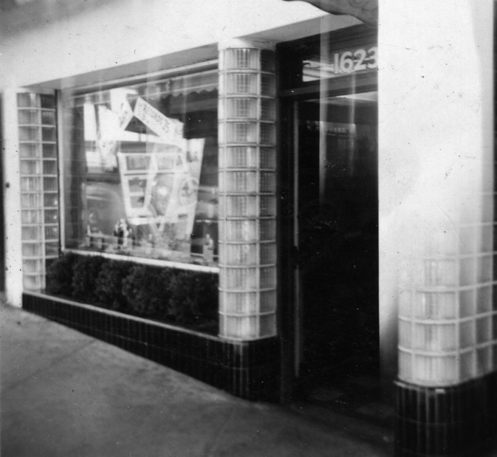 Post Street Liquor Store at 1623 Post Street. Photograph courtesy of the Hall family.