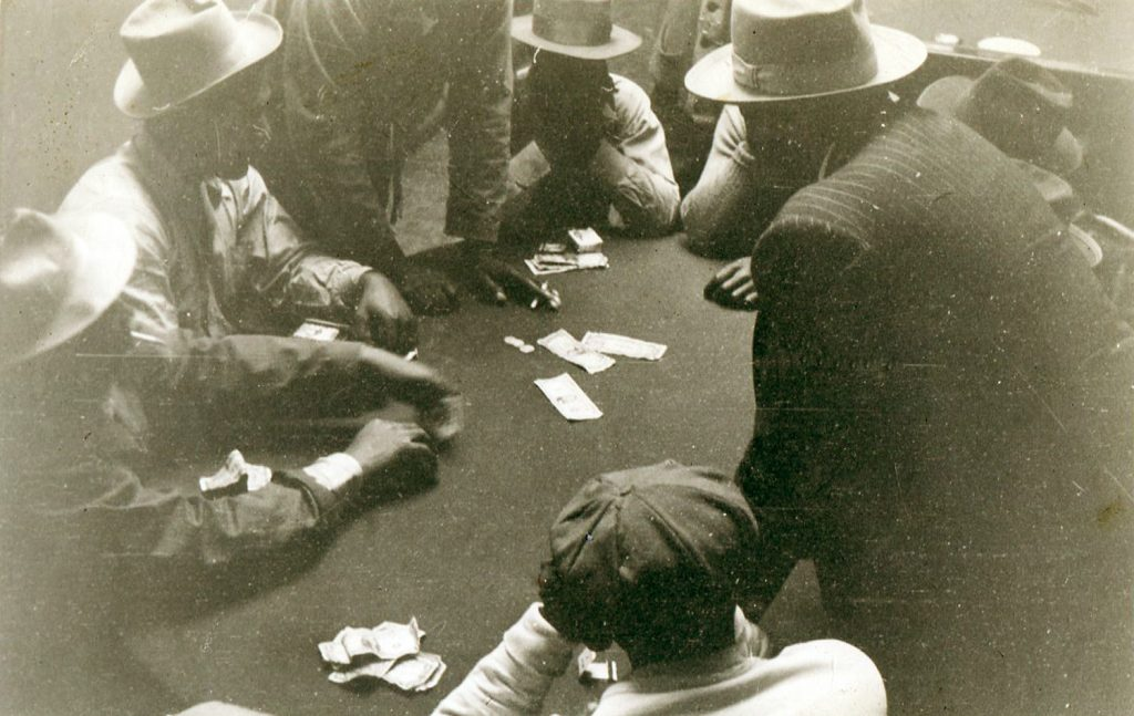 Gambling in the Fillmore. Photography courtesy of the Hall family.