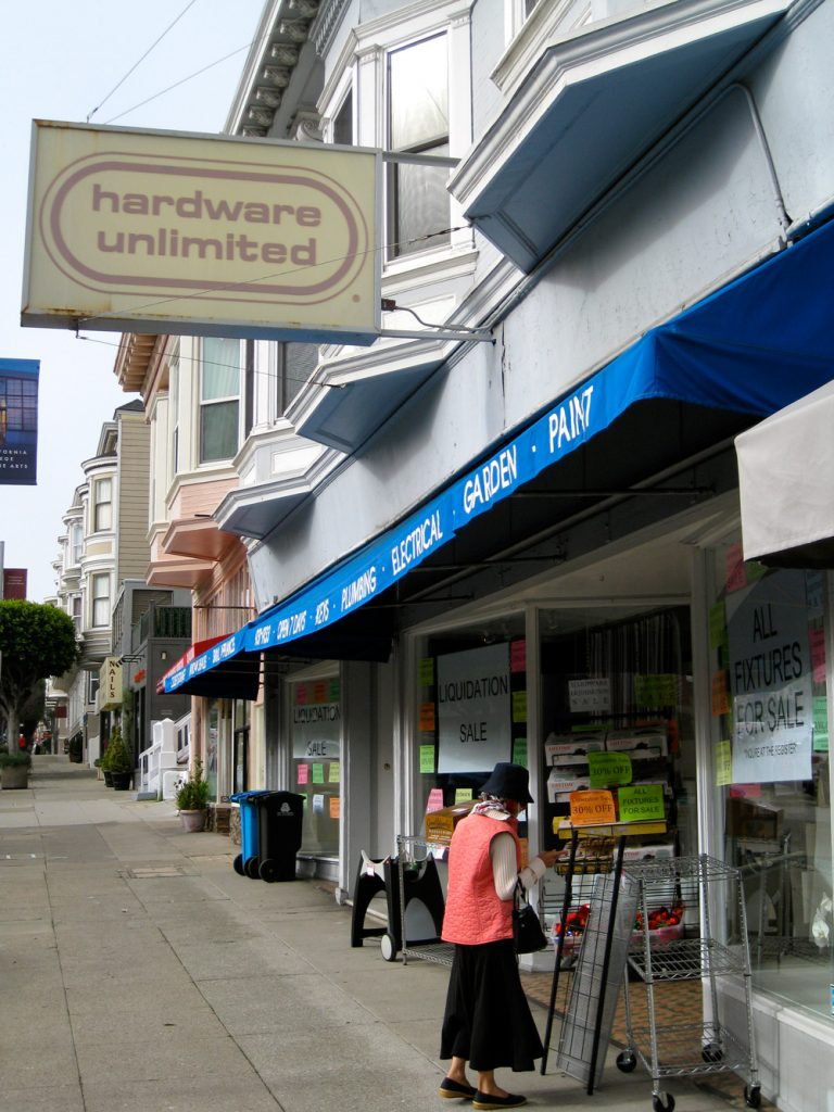 Hardware Unlimited has been at 3326 Sacramento Street for almost a century.