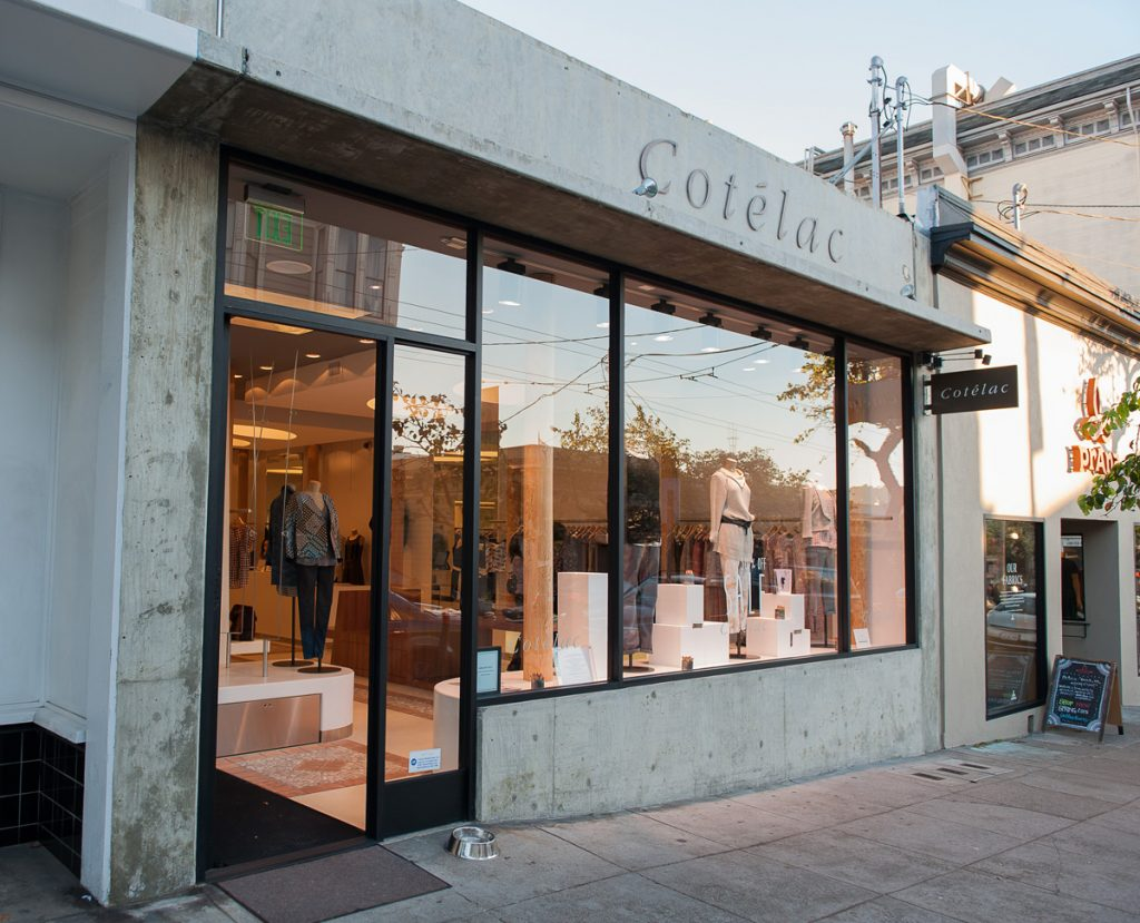 The Cotelac boutique at 1930 Fillmore, formerly Fillmore Hardware.