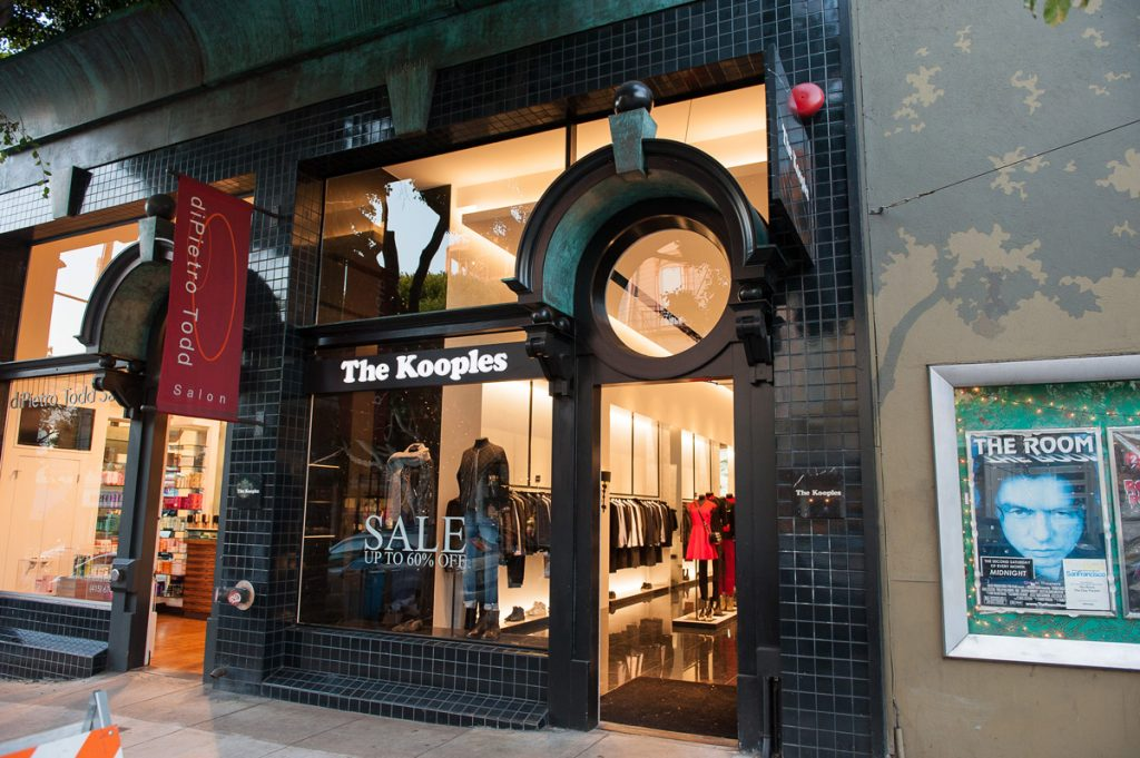 The Kooples, a new boutique at 2241 Fillmore, formerly Clary Sage.