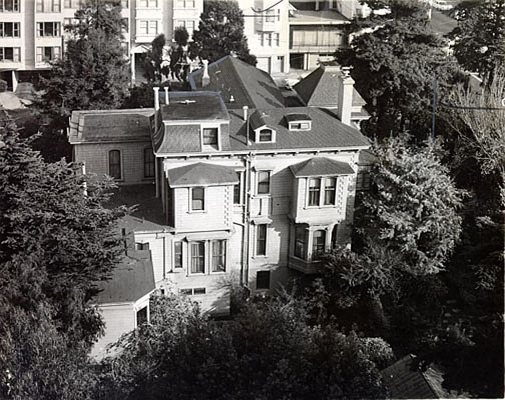 The Allyne family home. Photo: San Francisco History Center, San Francisco Public Library