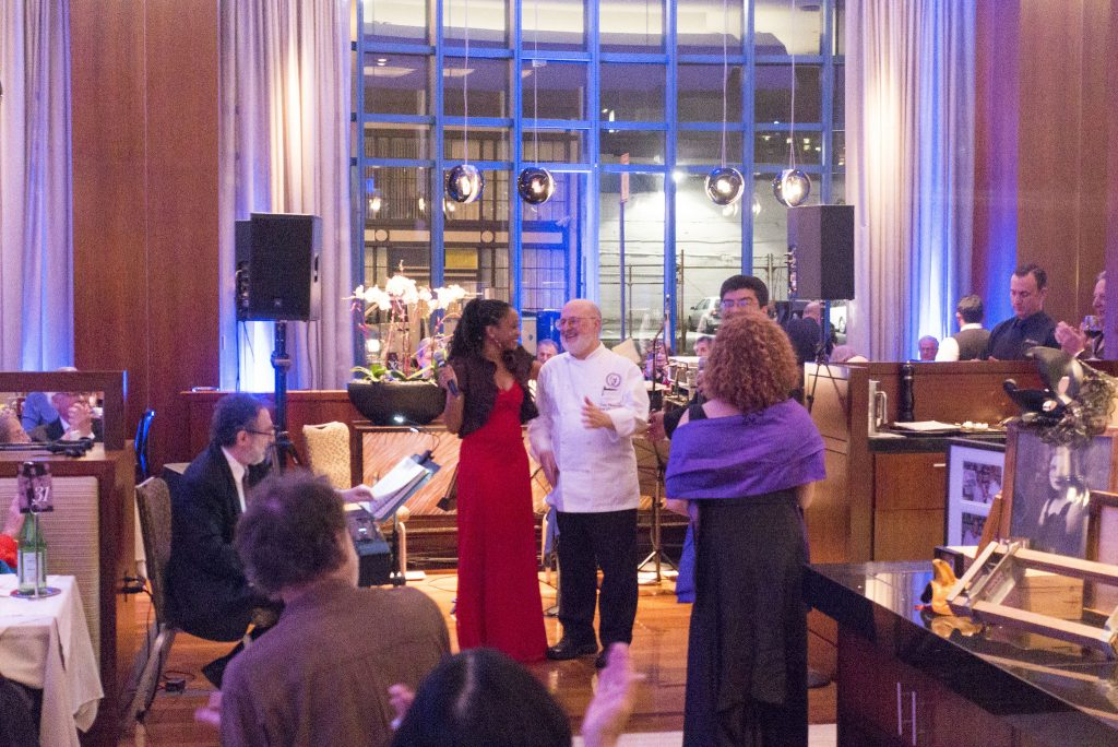 Vivande owner-chef Carlo Middione was celebrated and seranaded at a dinner in his honor.