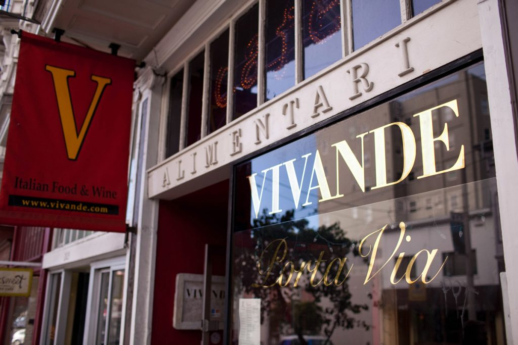 Vivande Porta Via was located at 2125 Fillmore Street for 29 years.