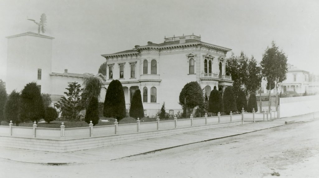 The historic Ortman-Shumate house at 1901 Scott Street in the 1880s.