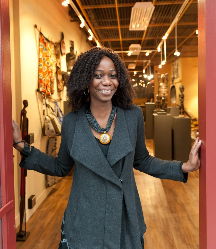Solange Mallett owns African Plural Art at 1305 Fillmore.