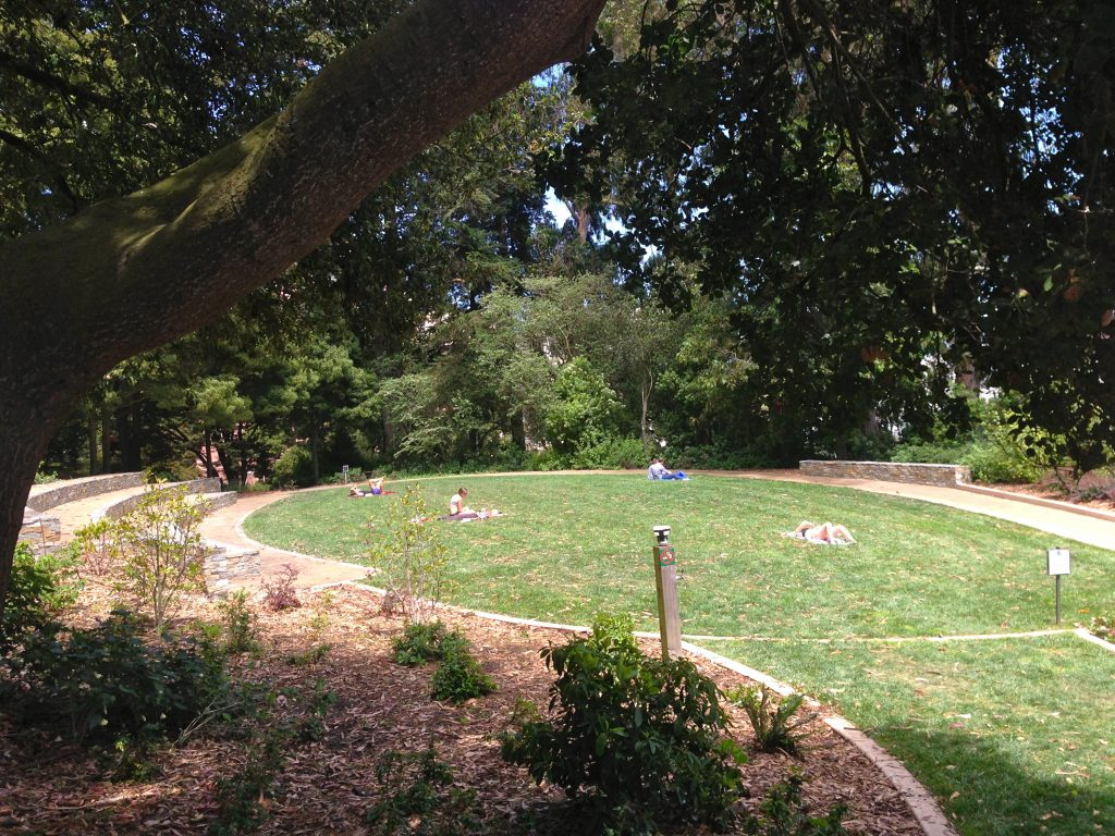 Mime Troupe Meadow in the renovated Lafayette Park honors the historic occasion.