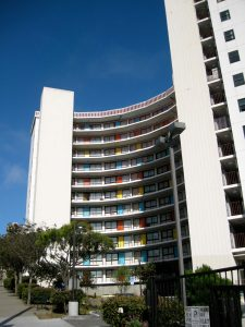 John Savage Bolles designed John F. Kennedy Towers at 2451 Sacramento.
