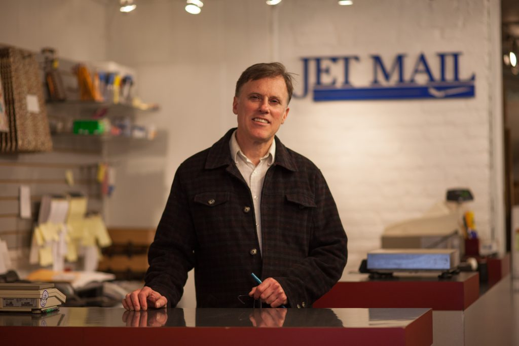 Photograph of Jet Mail's Kevin Wolohan by Kathi O'Leary