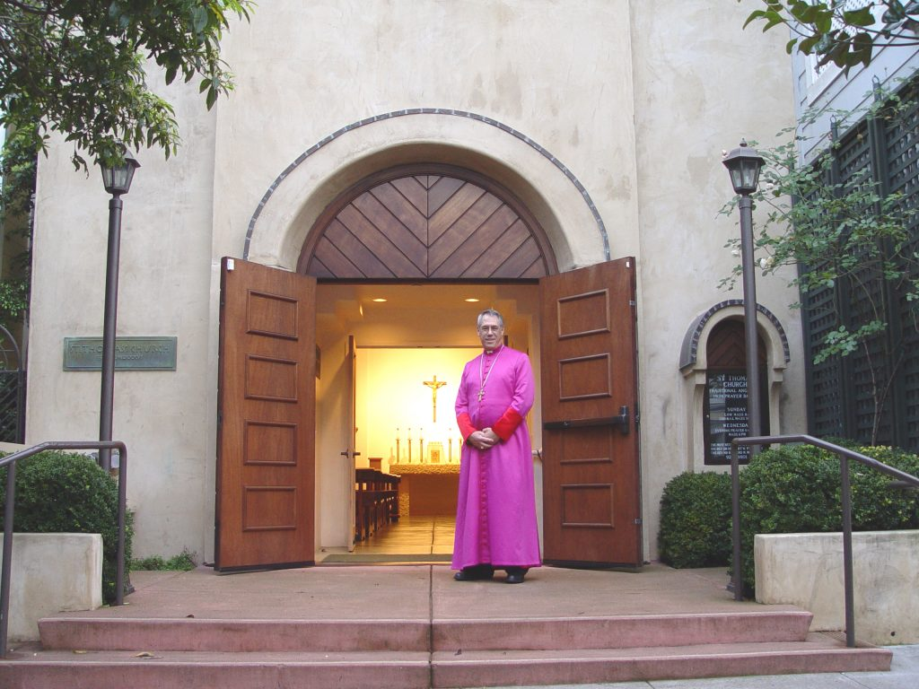 Archbishop James Provence at St. Thomas Anglican Church in San Francisco