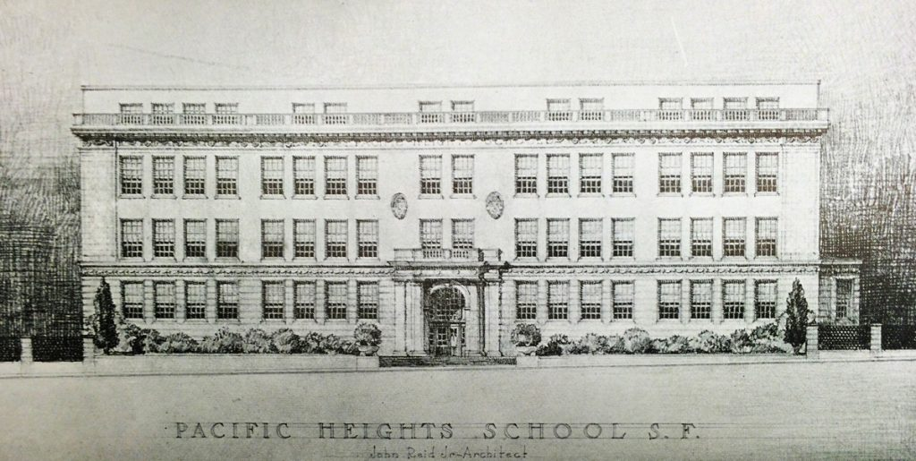 Pacific Heights School was built in 1924 at the corner of Jackson and Webster Streets.