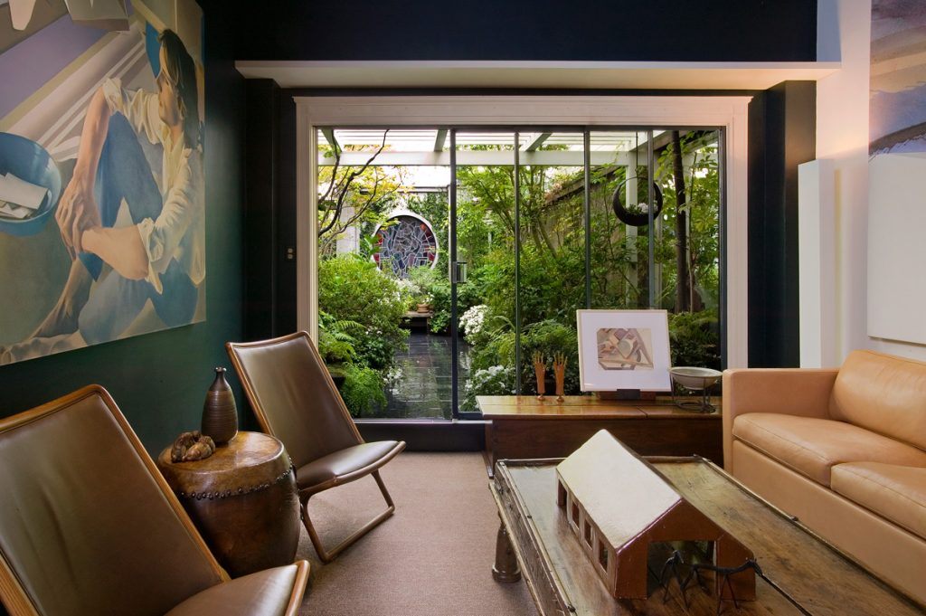 Designer John Wheatman's  garden is an extension of his home.