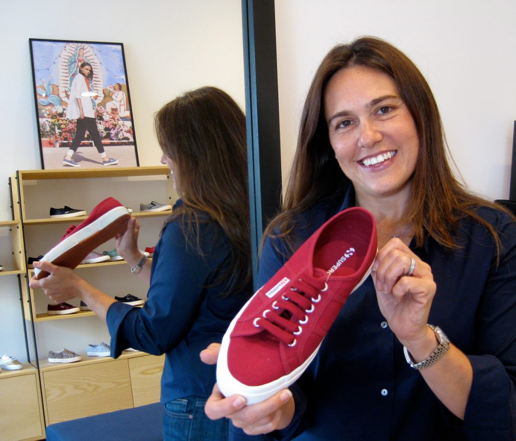 Shop owner Claudia Volpi says Superga is a perfect fit for San Francisco's casual vibe.