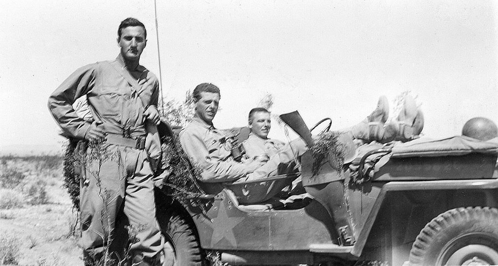 Lt. Roger Boas with fellow officers during World War II.