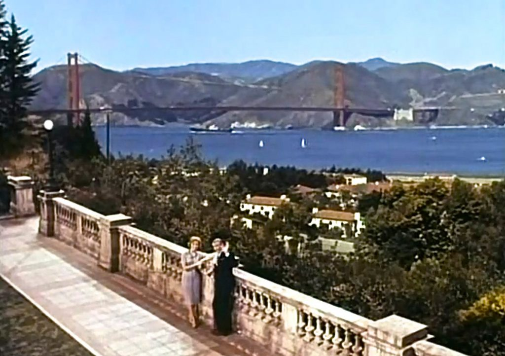 Scenes in The Pleasure of His Company were filmed on a set modeled on the Lyon Street steps.
