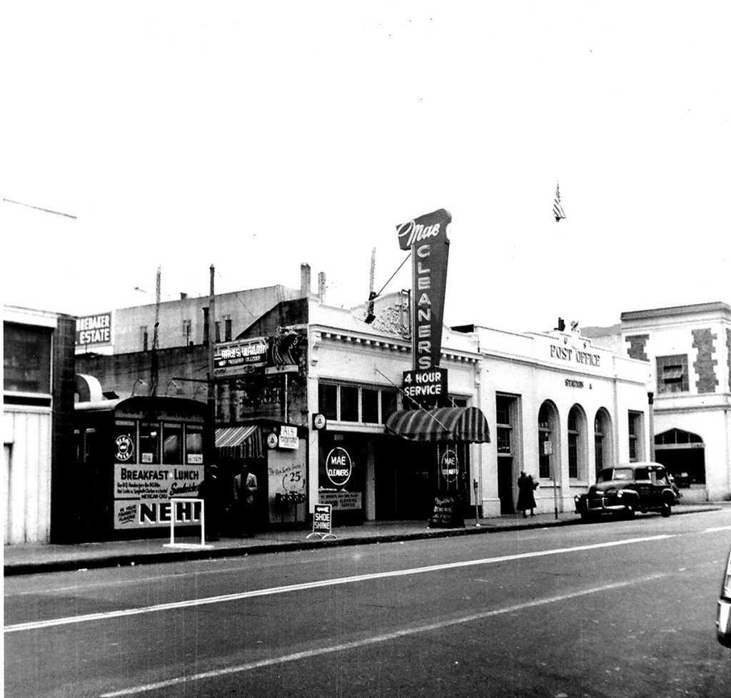 The neighborhood post office was located at 1949 Post Street circa 1950.