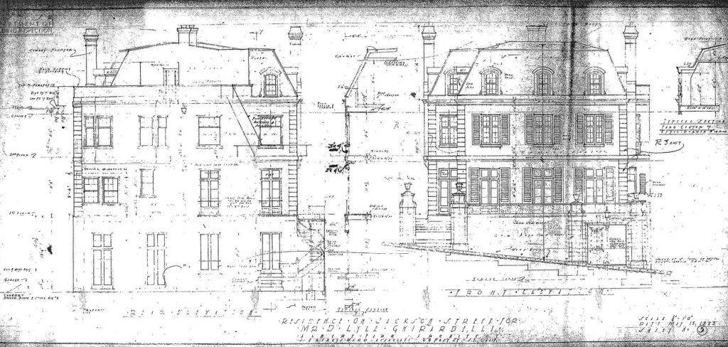 Albert Farr's original plans for 2570 Jackson.