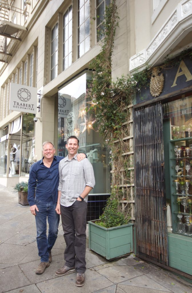 Gary Mureta and Eric Trabert operate side-by-side shops on Fillmore.