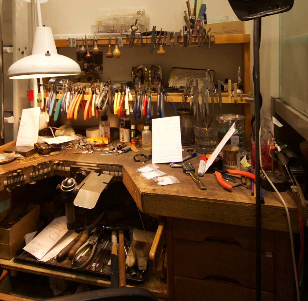 Eric Trabert's workshop. Photographs by Susie Biehler.