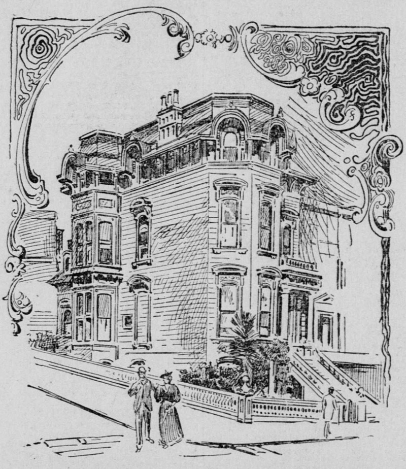 The home — built at Sutter and Mason — was later moved to 2355 Washington Street.