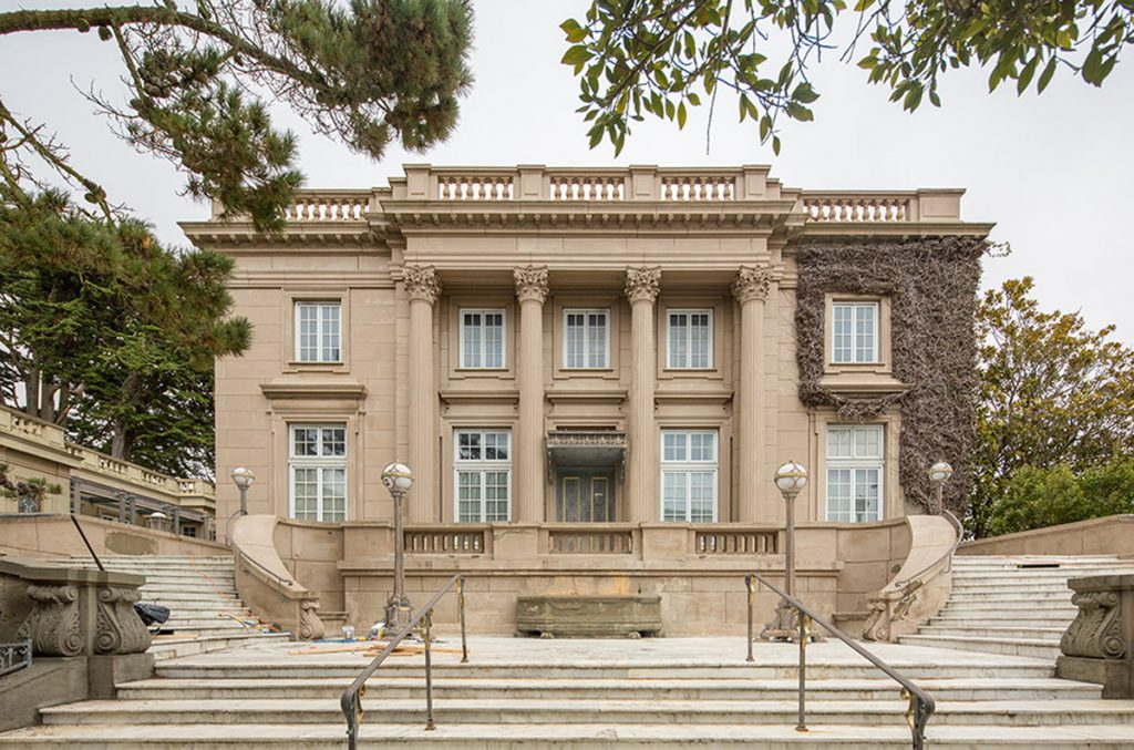 The 14-bedroom chateau at 3800 Washington Street sold in a foreclosure sale.