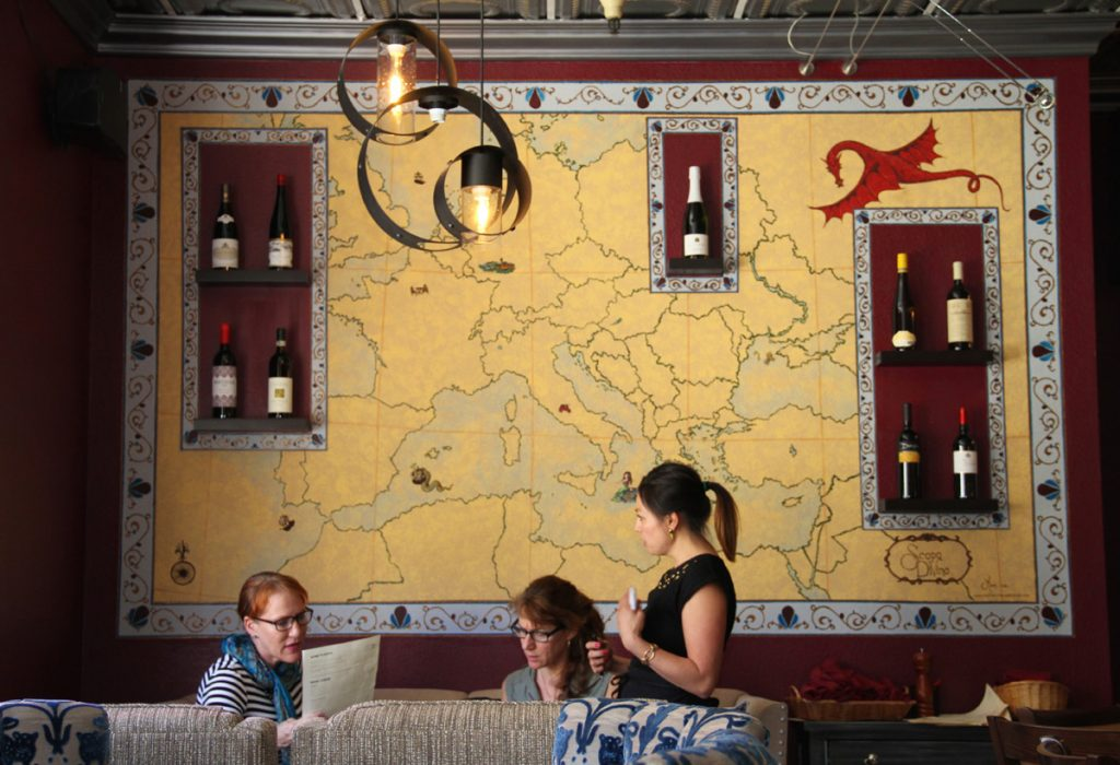 Scopo Divino offers wine from around the world.