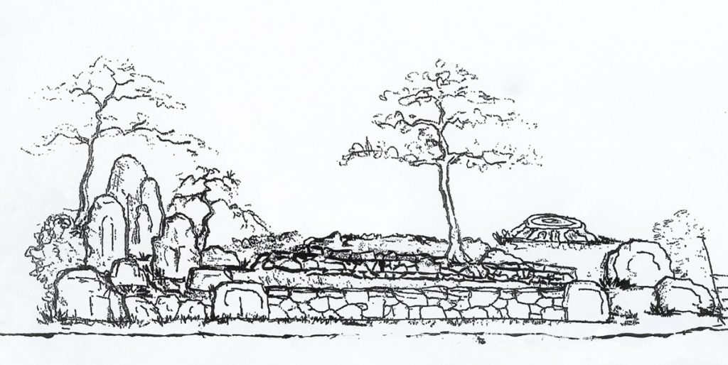 A drawing of the proposed Issei Memorial Garden on Cottage Row.