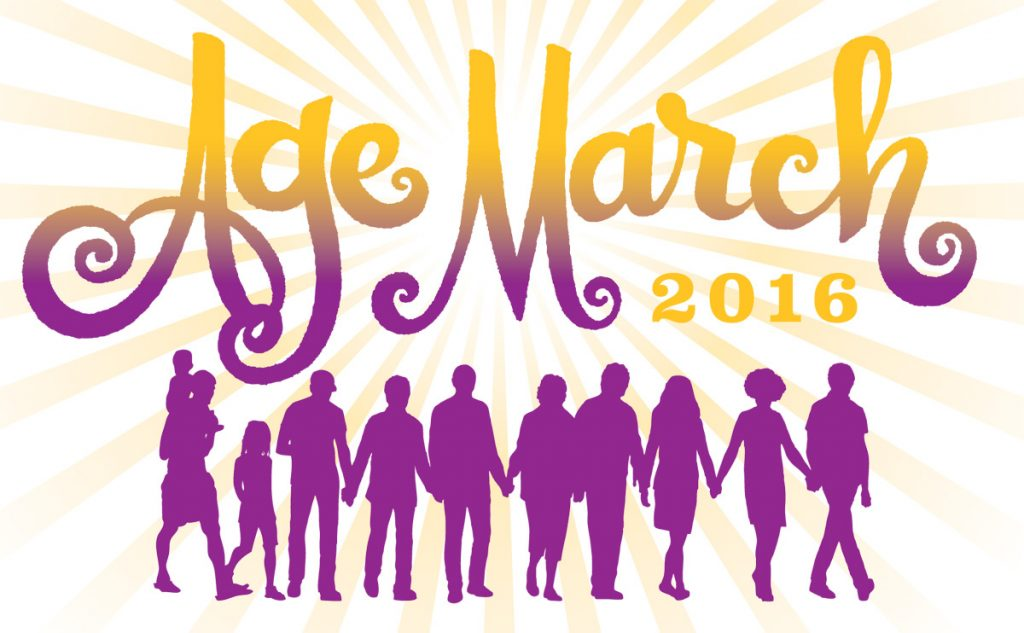 The Age March takes place on December 4 on Union Street in San Francisco.