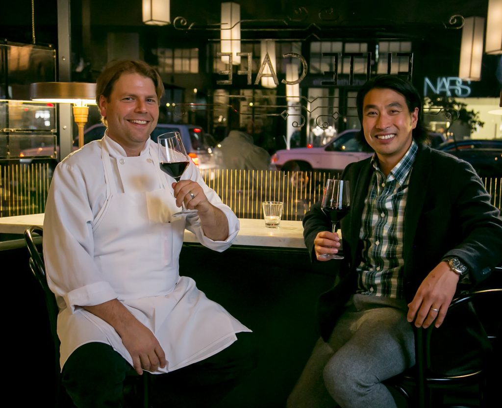 The Elite Cafe's new chef Chris Borges and new owner Andy Chun.