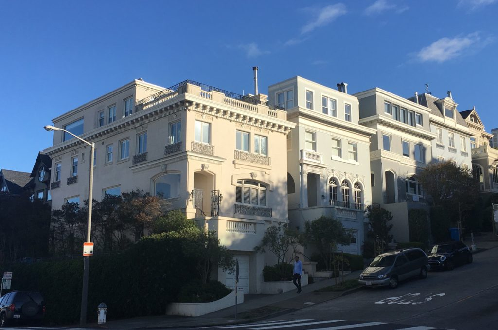 E.E. Young designed the homes at Divisadero and Green, now with added third floors