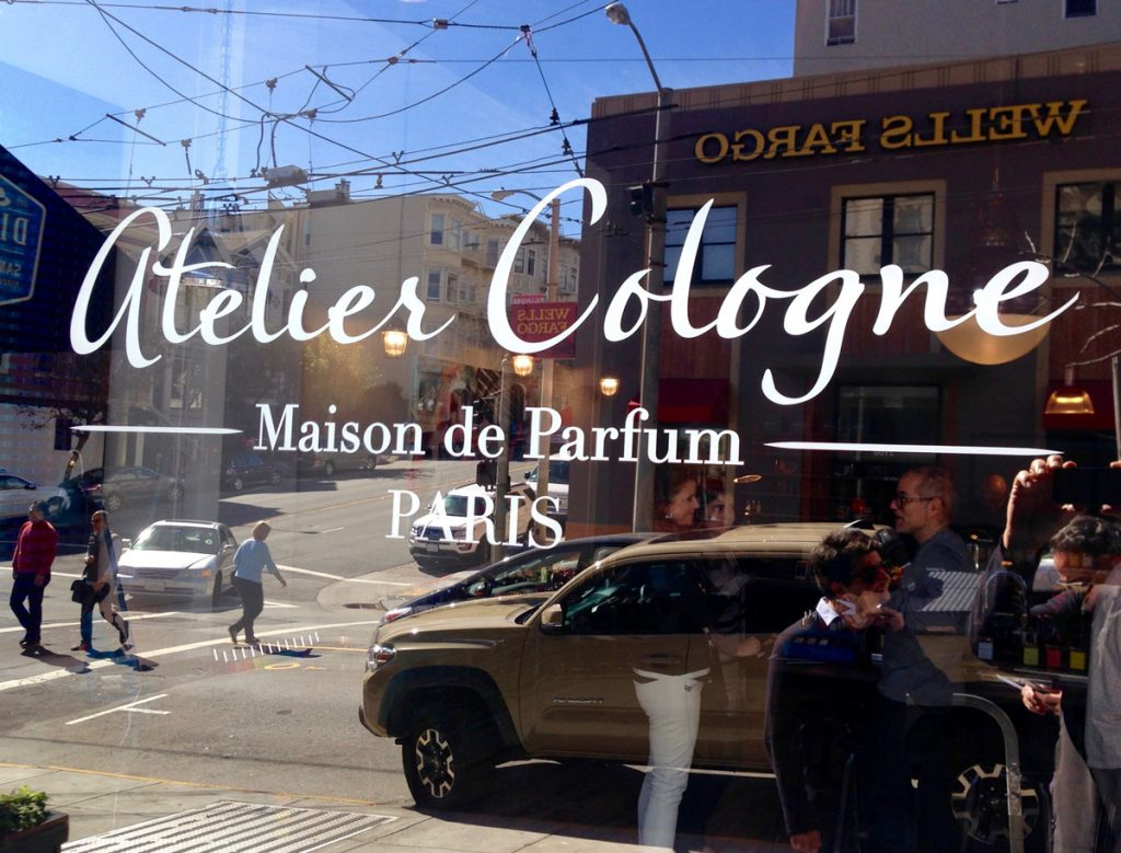 Atelier Cologne from Paris is the newest beauty and body shop on Fillmore Street.