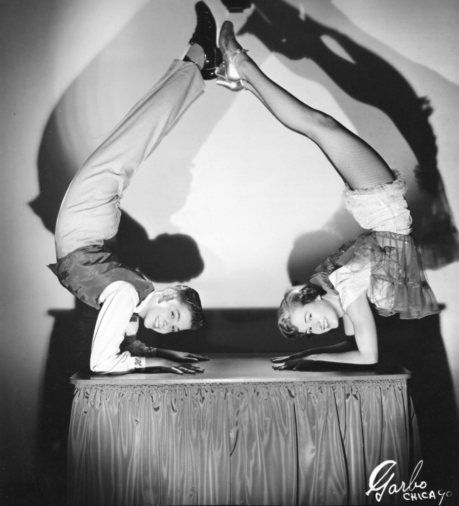 Kelly Johnson and his sister Connie during their vaudeville days.