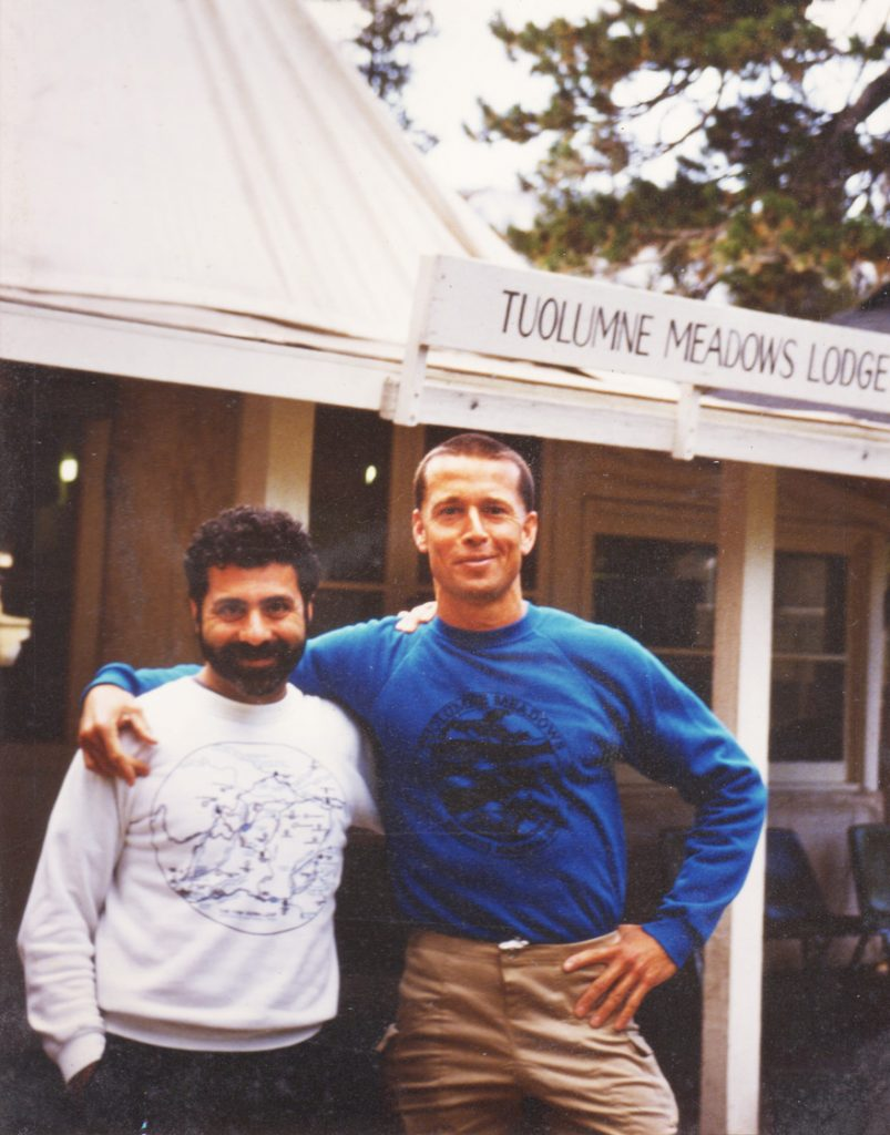 Fred Martin (right) and William Weber in 1988 in their beloved Yosemite National Park.