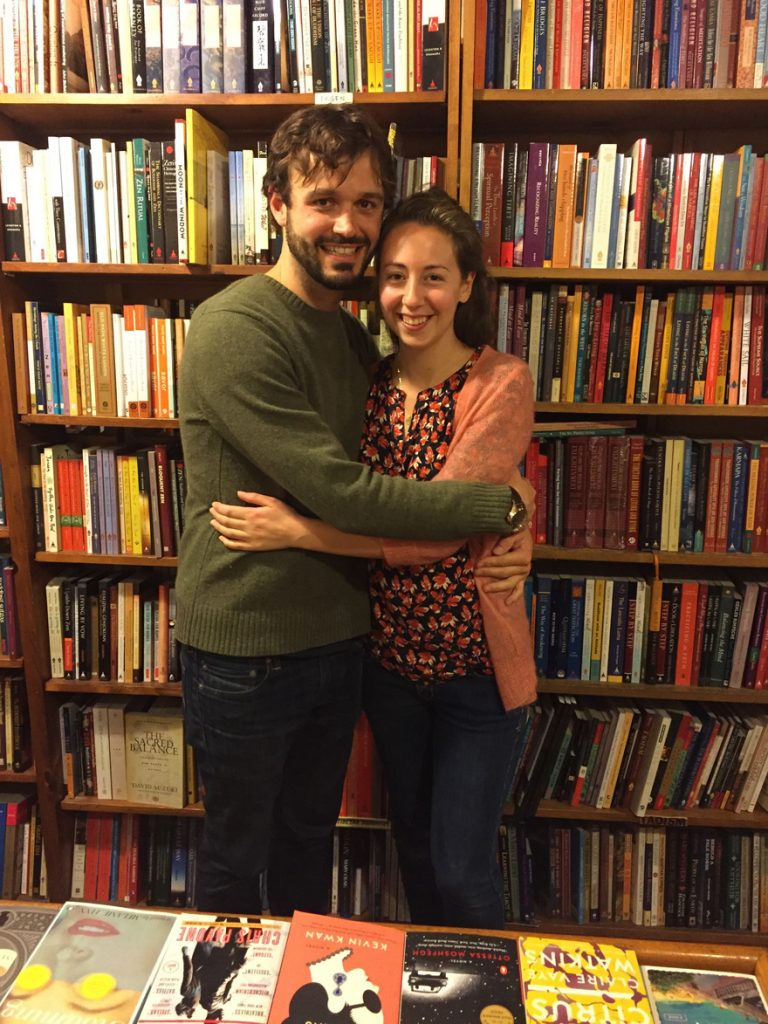 The youngest members of the Browser Books family: Jordan Pearson and Catie Damon.