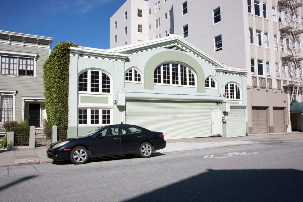"The garage at 1776 Green is for sale as a ""development opportunity."""