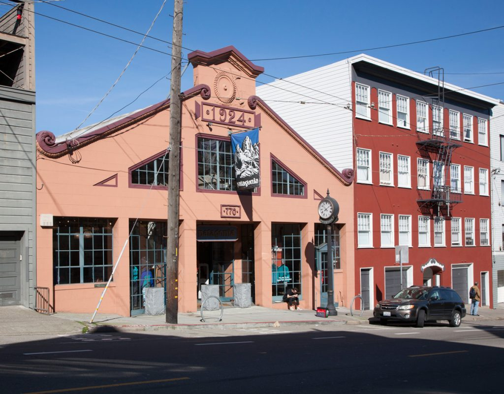 The Patagonia store at 770 North Point was formerly a neighborhood garage.