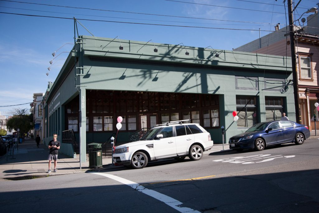 The future is in doubt for the garage at 3060 Fillmore that formerly housed Real Foods.
