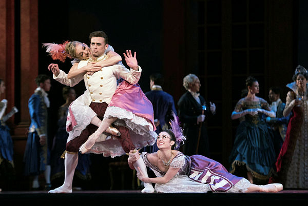 Neighborhood resident Ellen Rose Hummel (right) dances in the S.F. Ballet's production of Cinderella.