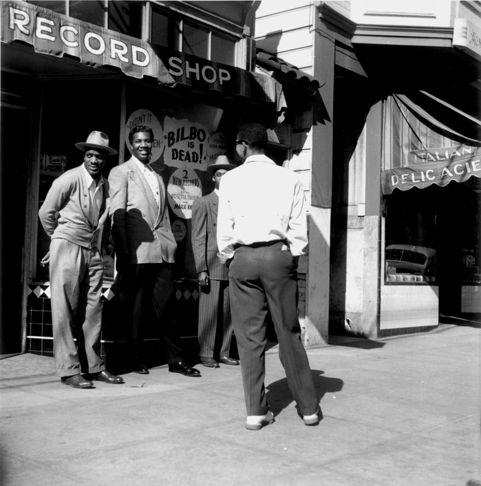 David Johnson's photograph of the Melrose Record Shop in 1947 — or is it?