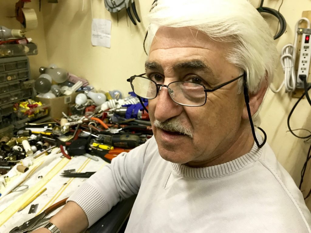 """I never overcharge, but I buy the best quality,"" says Yury Budovlya, owner of Yury's Lights & Beyond."