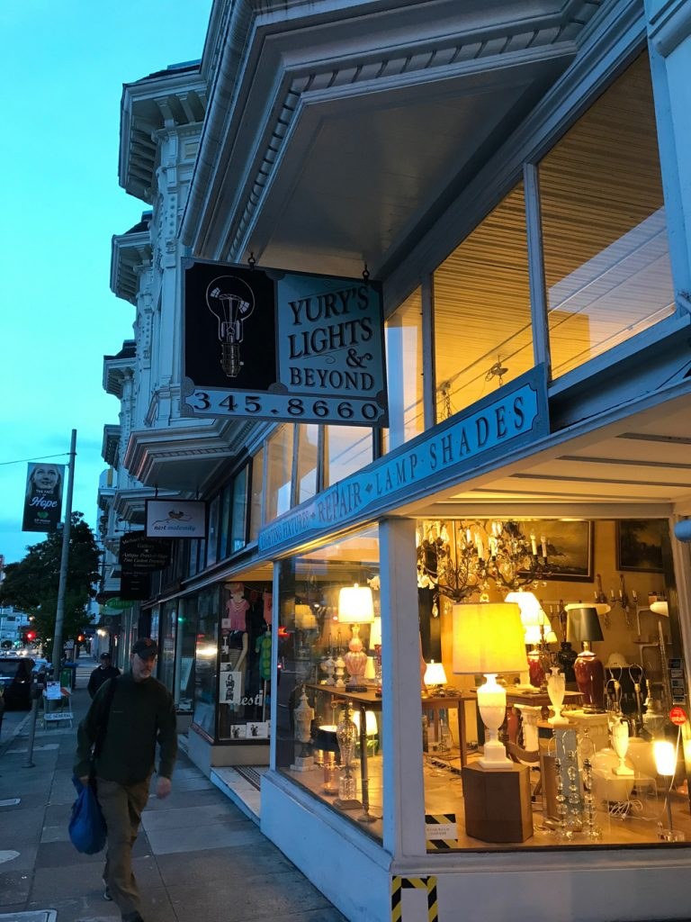 Yury's Lights & Beyond offers up a warm evening glow of light at 1849 Divisadero.