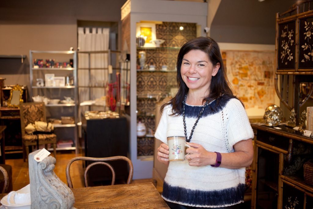 Traci Teraoka is the proprietor of Poetica Art & Antiques at 3461 Sacramento Street.
