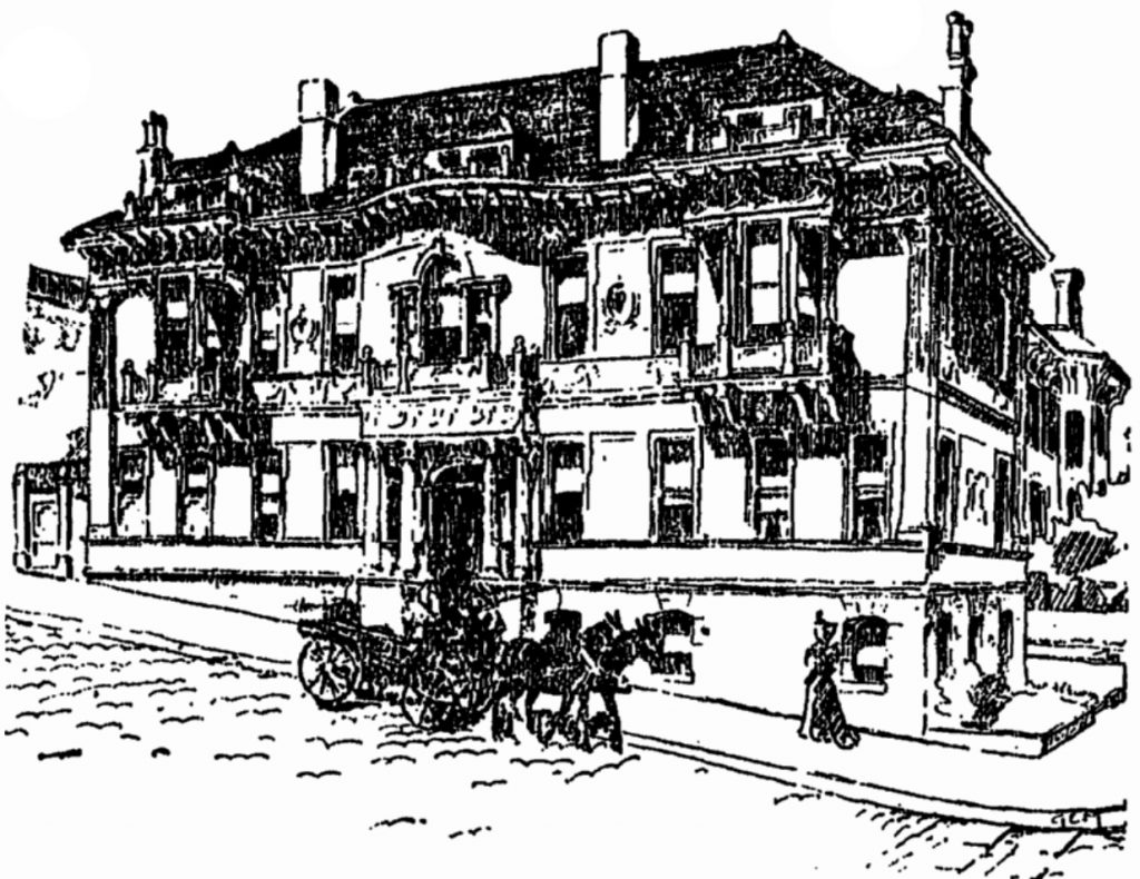 A drawing of 2302 Steiner Street from 1896, when it was built.